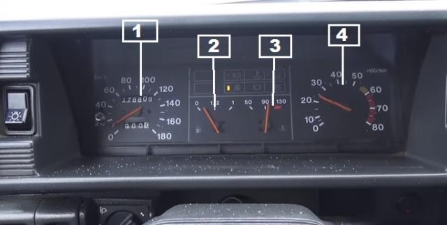 Описание комбинации приборов на автомобиле ВАЗ 2109